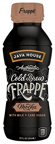 JAVA HOUSE Authentic Cold Brew Coffee, Mocha Frappe, 10 Ounce (Pack of 12) Ready to Drink