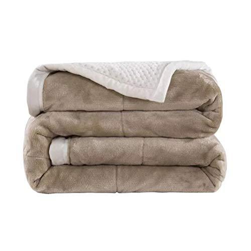 ADGAI Fleece deken gooit reisgrootte - Super zacht pluizig bed gooit dekens warme deken voor bank kerst gooit ivoor deken sprei