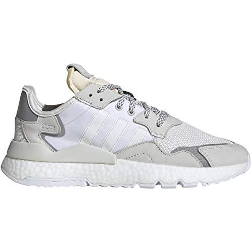 adidas Men's Nite Jogger Running Shoe (7.5, Crystal White/Crystal White/Footwear White)