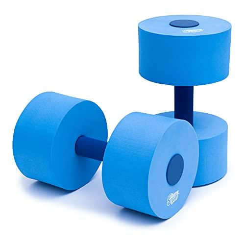 Sunlite Sports - Juego de mancuernas de goma EVA (26,67 cm), color azul