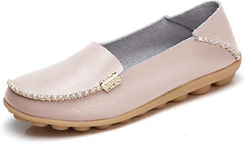 VenusCelia Women's Natural Comfort Walking Flat Loafer(5 M US,Beige)