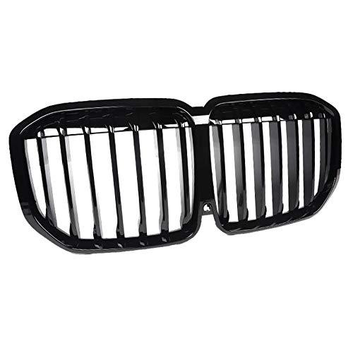 ZHANGJN Nierengrill, glänzend schwarzer Fronthaube Nierengittergrill-Grills ABS-Dual-Linie kompatibel für Neu -BMW- X7 G05 Front-Bumper-Grill