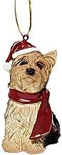 Design Toscano Christmas Ornaments - Xmas Yorkie Holiday Dog Ornaments