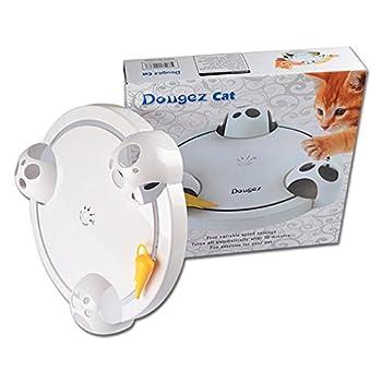 Minve Jouets pour Chat, Cat Interactive Roating Bondir cacher recherche Mouse Teaser de chasse Planche à Griffer électrique plaque d'attractions
