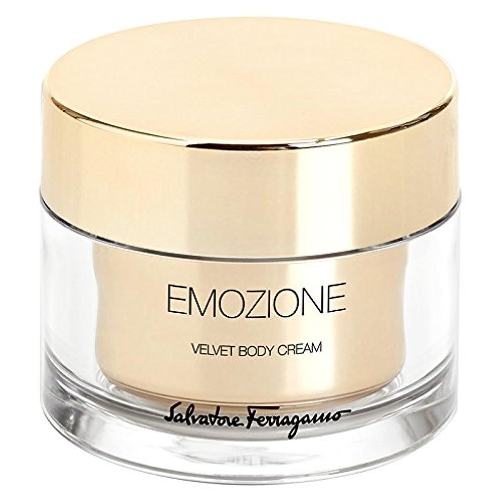 彼らは寮リストサルバトーレ?フェラガモEmozioneベルベットボディクリーム150ミリリットル (Salvatore Ferragamo) (x6) - Salvatore Ferragamo Emozione Velvet Body Cream 150ml (Pack of 6) [並行輸入品]