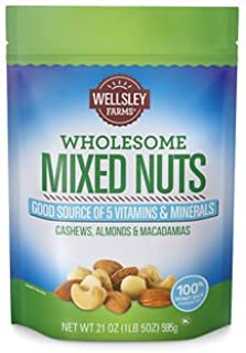 Wellsley Farms Wholesome Mixed Nuts, 21 oz. SA