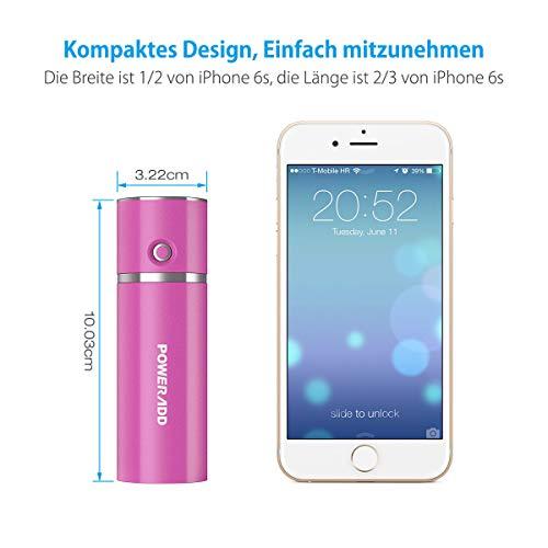 Xcessory Slim 2 Externer Akku 5000mAh Power Pack für Smartphones , Digital Kameras und Mp3 (rosa)