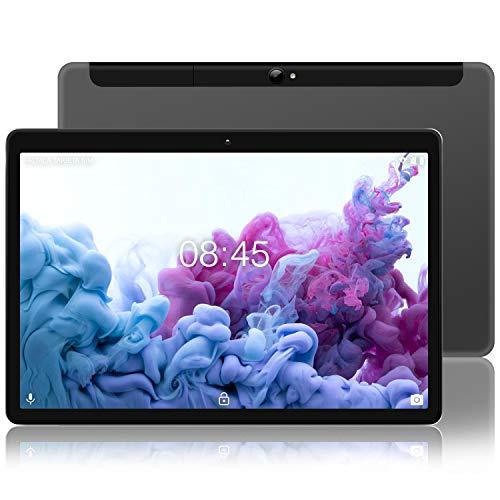 MEBERRY Tablette Tactile Android 10.0 - Tablettes 10 Pouces HD avec 4 GB RAM 64 GB ROM - Certification Google GSM - 4G LTE Dual SIM &Dual Caméra,8000mAh,WI-FI,Bluetooth - Corps en métal Gris