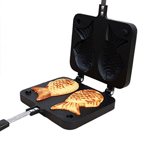 ZYZ Fische Kuchen Form, Nonstick rauchfreie Pfanne Erdgas Tintenfisch Brennen Form Keks Kuchen Form Backen Pfanne Multi-Zweck-Backwerkzeug