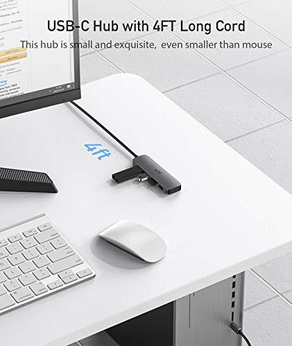 uni USB C 3.0 Hub 4-Port, 1.2M Ultra Slim Data Hub, kompatibel mit MacBook Pro, iPad Pro, MacBook Air, Dell XPS, Surface Book und mehr