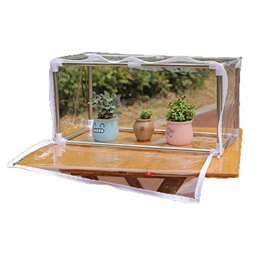 Serre De Jardin,Imperméable Coupe-vent Résistant Au Froid Plantes Succulentes Extérieur Abri D'isolation Mini Serre, 9 Tailles (Color : Clair, Size : 150x40x40cm)