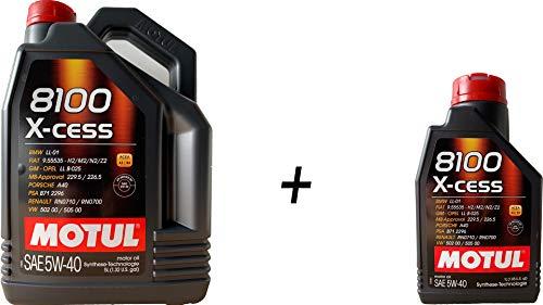 Motoröl DUO Motul 8100 x-cess 5W40, 6 Liters (1 x 5 Lts + 1 x 1 Lt)