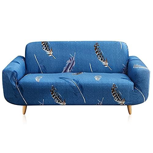 MKQB Funda de sofá elástica elástica para Sala de Estar, Moderna Funda de sofá de Esquina Floral Impresa, Funda de sofá Antideslizante n. ° 6 S (90-140cm