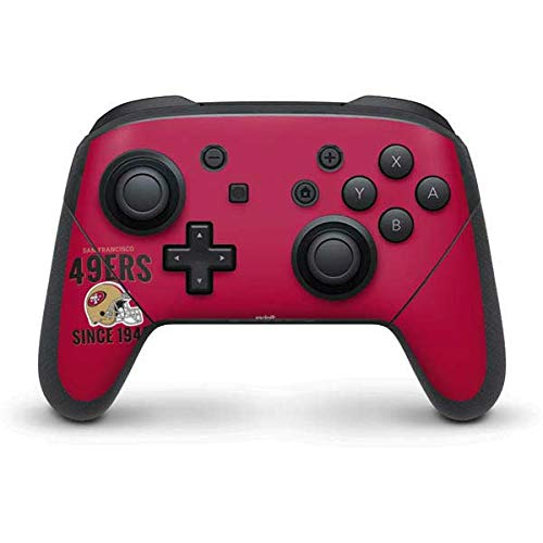 Skinit Decal Gaming Skin Compatible with Nintendo Switch Pro Controller - Officially Licensed NFL San Francisco 49ers Helmet Design