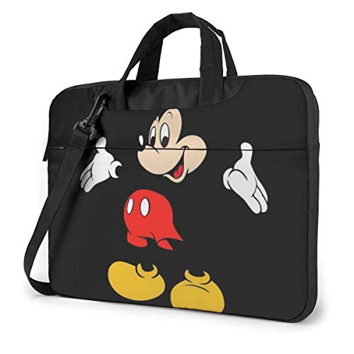 14 Inch Laptop Bag Mickey Mouse Laptop Briefcase Shoulder Messenger Bag Case Sleeve