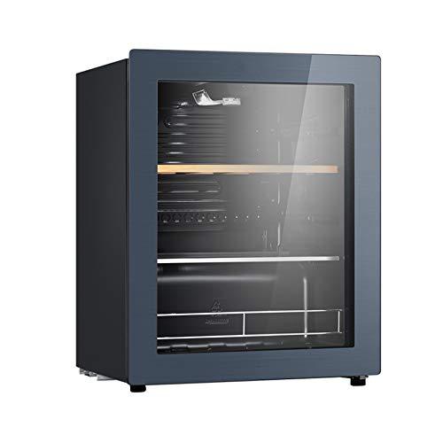 BLLXMX Vinoteca Refrigerador De Vino, 28 Botellas, Puerta De Vidrio De 2 A 18 ° C, Pantalla LED, Iluminación Interior LED Táctil, Negro