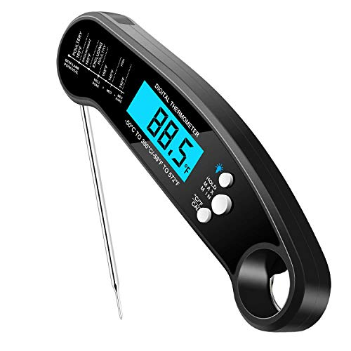 one touch ultra 2s SKERYBD Digital Meat Thermometer for Cooking and Grilling, 2S Instant Read & ±1 High Precision, Easy to Use, IP67 Waterproof, for Kitchen Food Candy