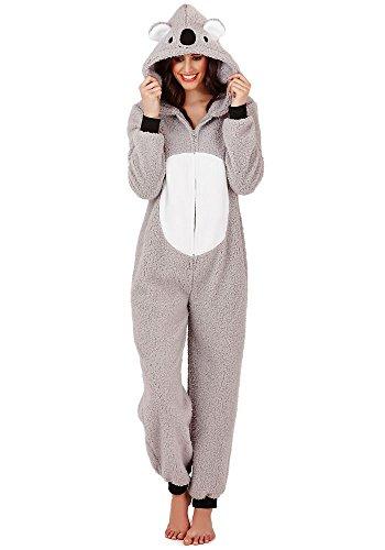 Continental Damen Jumpsuit Overall Tiere Gesichter Öhrchen 3D Kapuze Koala Bear 3D 79662/79762 XL