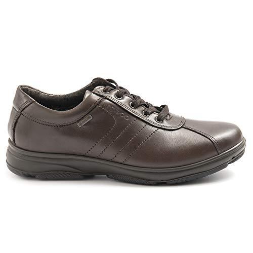 IGI&CO 4115711 41157 - Zapatos de hombre de piel marrón con Goretex - Talla Marrón Size: 41 EU