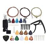 Kit de accesorios de guitarra Kit de herramientas de guitarra Durable Compact Tuner Professional, para guitarras eléctricas, para banjos, para ukeleles
