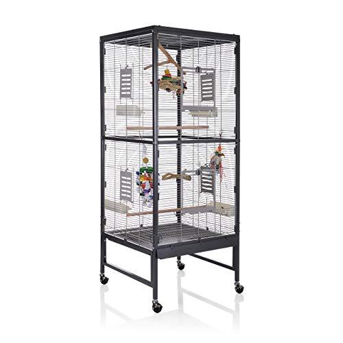 Montana Cages ® | Vogelvoliere Voliere Vogelkäfig Vogelhaus Käfig Paradiso 60 - für den Wellensittich, Nymphensittich die Wellensittichvoliere