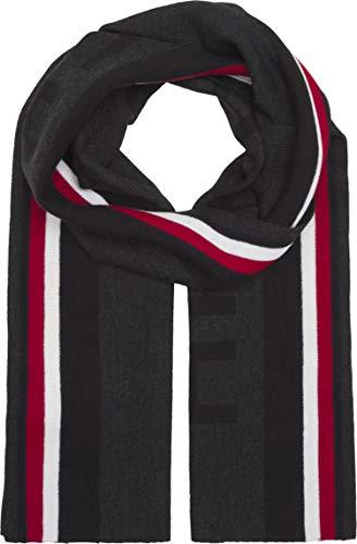 Tommy Hilfiger Fine Knit Scarf with Ringel Design Black