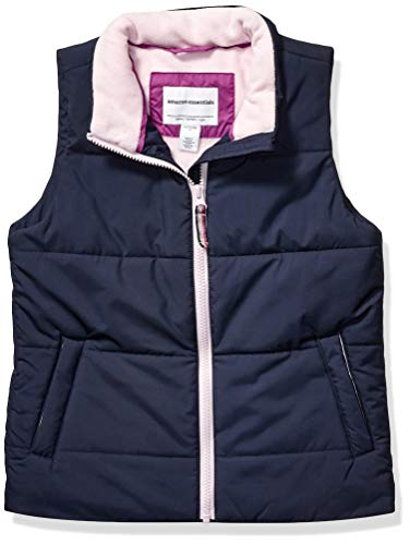 Amazon Essentials Girls' Big Heavy-Weight Puffer Vest, Navy, Large