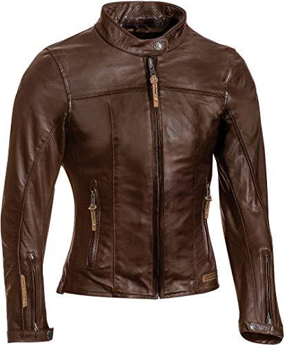 IXON Motorradjacken Crank Lady Braun, Braun, L