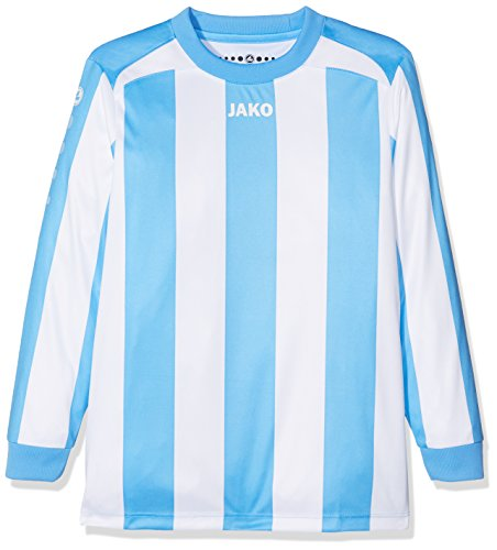 JAKO Kinder Fußballtrikots LA Trikot Inter, SkyBlue/Weiß, 116