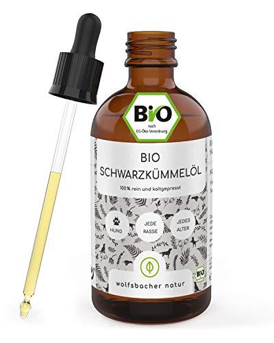 Bio Schwarzkümmelöl für Hunde [100ml] kaltgepresst aus kontrolliert biologischem Anbau, DE-ÖKO-060, 100ml Tropfflasche