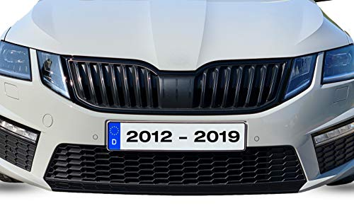 G002 | PrintAttack Spoilerschwert Lippe Frontspoiler (3M Wrap Folie 1080) P007 | BJ 2012-2019 | Vorfacelift + Facelift | Black/Carbon/Red (3M G12 Schwarz Glanz)