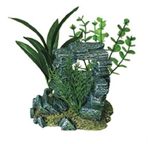 Exotic Environments Arche de Roche avec Plantes Décoration d'aquarium Petit Format