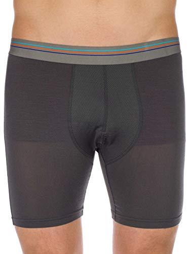 Patagonia M's Essential A/C Boxer Briefs-6 In. Boxershorts, Herren M grau (Forge Grey)