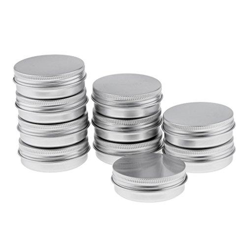 10er Set 40ml Cremedose Leere Dosen Schraubdose aus Aluminium mit Schraub-Deckel, Alu-Dose Döschen Behälter für Kosmetik, Tee und Kerzen - 40g