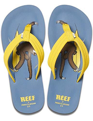 Reef Boys Kinder-Sandalen Zehentrenner Sandels »AHI« Jonas Claesson Surfing Sloth Gr.31/32