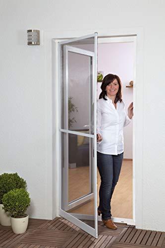 Fliegengitter für Türen Master Slim plus 100x210 in weiß braun und anthrazit (120cm x 240cm, anthrazit)