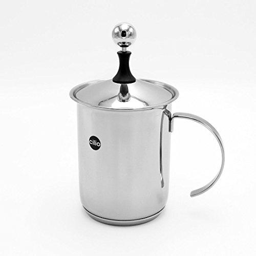 """Cilio 0000550023 Cappuccino Creamer """"Classic 6 Tassen, Edelstahl, Silber, 13,4 x 14,2 x 23,4 cm, 23"""