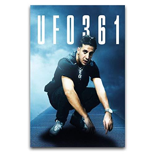 WPQL Ufo361 Rapper Cover Poster Dekoration Gemälde Leinwand Wandkunst Schlafzimmer Wohnzimmer Poster Gemälde 50 x 75 cm