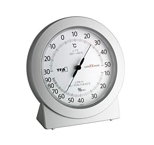 TFA Dostmann Analoges Präzisions-Thermo-Hygrometer, zur Kontrolle von Temperatur und Luftfeuchtigkeit, ideal auch für Profi-Einsatz