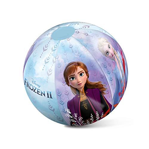 MONDO Disney Ballon de Plage Gonflable Licence La Reine des Neiges Frozen – Multicolore – 50 cm – Jeu de Plein Air dès 10 Mois, 16525, Multi, Taille Unique