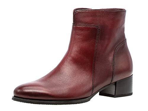 Gabor Damen Bootie 35.500, Frauen Stiefelette,Stiefel,Boots,Halbstiefel,Bootie,gefüttert,Winterstiefeletten,Dark-red (Effekt),40 EU / 6.5 UK