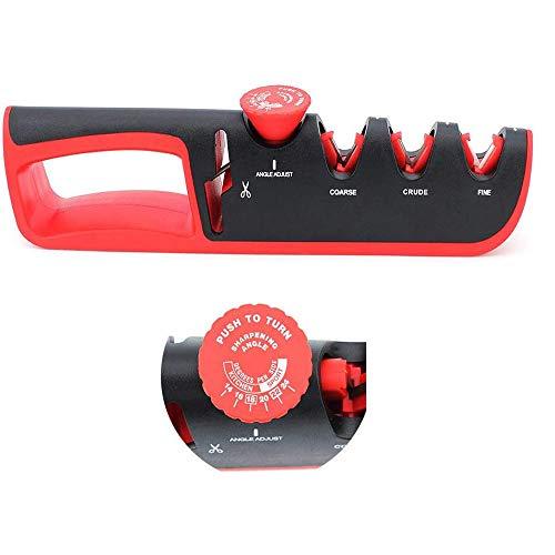 ShawFly Nuevos afiladores de Cuchillos 4 en 1, Herramienta de Afilado de Cuchillos Manual de Cocina Afilador de Ajuste multifunción para Todo Tipo de Cuchillos