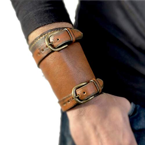 Leather Wrist Wallet for Men