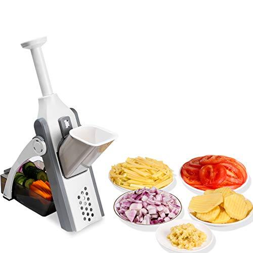 Safe mandoline slicer for Vegetables, Meal Prep & More with Thickness Size Adjuster