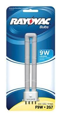 Rayovac F9W-1 9W Fluorescent Tube Bulb