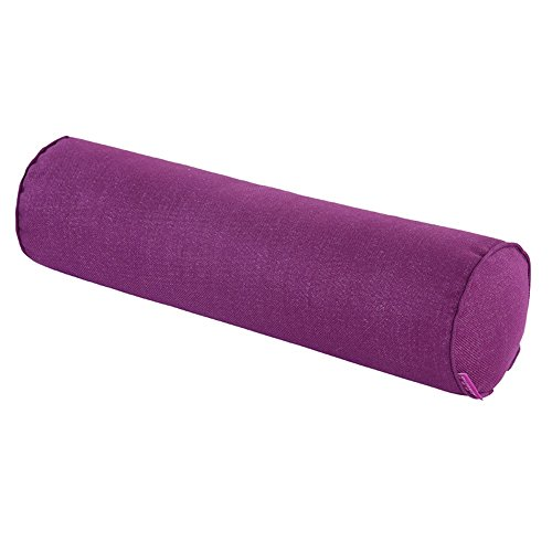 Nunubee Lino Color sólido Almohada de Caramelo Rollo Almohadas de Refuerzo Almohadas de Embarazo Almohada para el Cuello para el hogar Cama Sofá Cojín 7.9X31.5 Pulgadas Púrpura