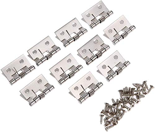 Hardware 10 unids-múltiples especificaciones primavera cargadas de culo bisagras accesorios de muebles gabinete cajón caja de joyería decorativa Mini bisagra Hardware (Tamaño: 2631mm)