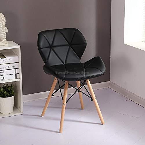 LKAIBIN Silla escandinava Moderna economía de Origen Minimalista pequeño apartamento sillas de Comedor de Madera Maciza (Color : Style 6)