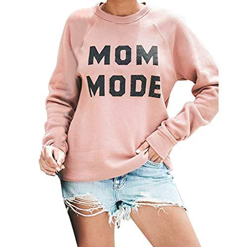 DQANIU Frauen Pullover, Damen Frühjahr/Herbst Mode Crewneck Sweatshirt Langarm Brief Drucken Terry Casual Cute Pullover