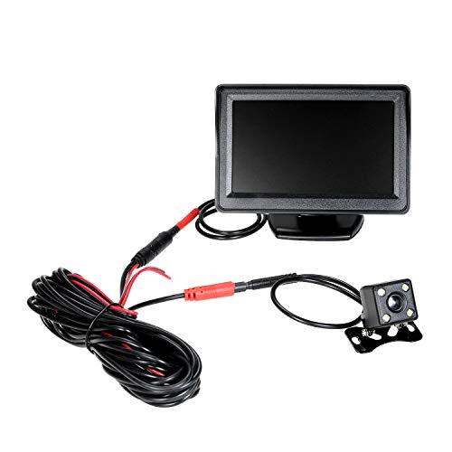 KKmoon Auto Rückfahrkamera Wireless Einparkhilfe mit 4.3 Zoll TFT LCD Monitor 170° Weitwinkel IP67/68 wasserdichte Kamera Nachtsicht für Auto Bus LKW Wohnmobil